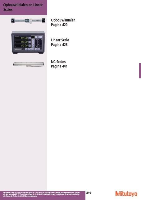 Opbouwlinealen & Linear Scales